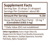 Plus CBD Drops 1oz 250mg Peppermint image number null