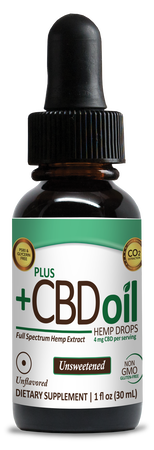 CBD Drops 1oz 300mg Unsweetened