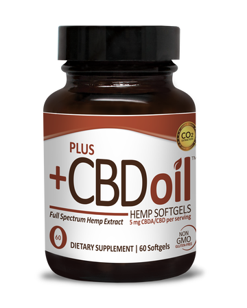 Plus CBD Softgel Capsules 60ct 5mg Raw Formula