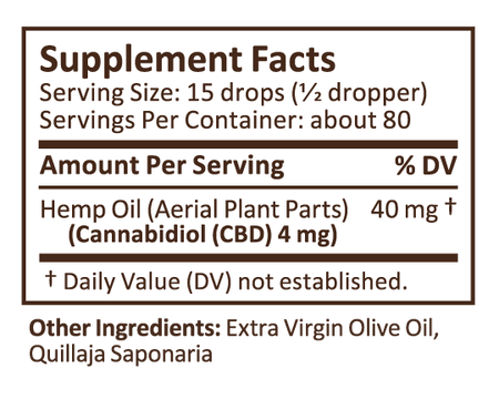 Plus CBD Drops 1oz 300mg Unsweetened image number null