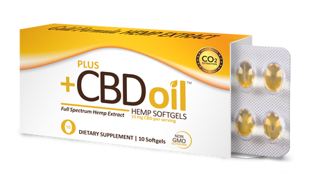Plus CBD Softgel Capsules 10ct 15mg Gold Formula image number null