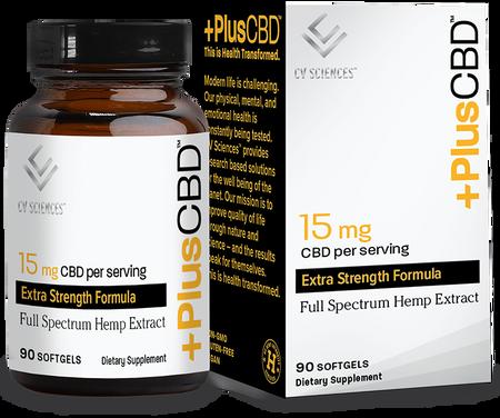 CBD Softgels 15mg 90ct Extra Strength Formula