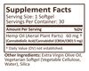 CBD Softgels 30ct 5mg Raw Formula image number null