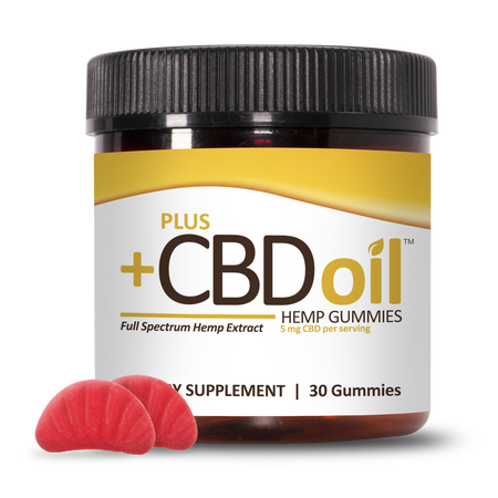 Plus CBD Gummies 30ct 5mg Cherry Mango image number null