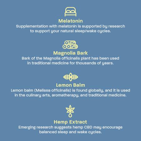 Sleep CBD ingredients and benefits