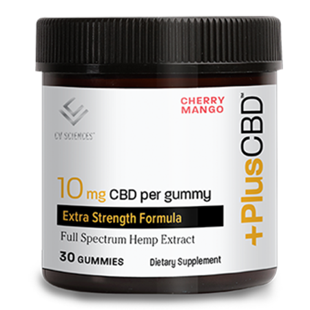 Plus CBD Extra Strength Gummies - 10 mg Cherry Mango 30 ct image number null