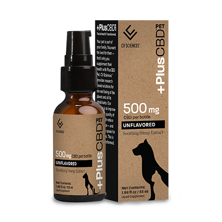 PET CBD OIL 500MG UNFLAVORED