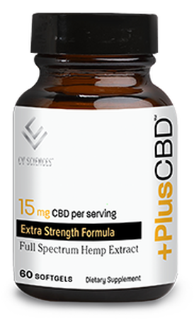 Plus CBD Softgel Capsules 60ct 15mg Gold Formula