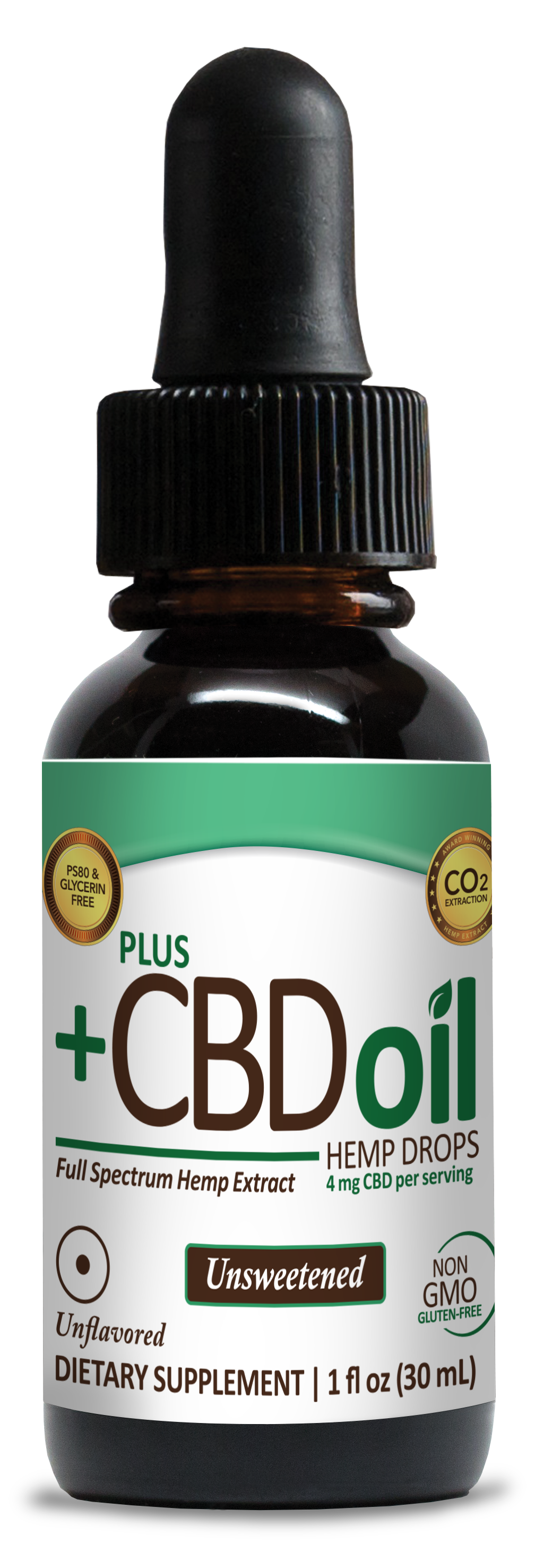 CBD Drops 1oz 300mg Unsweetened image number null